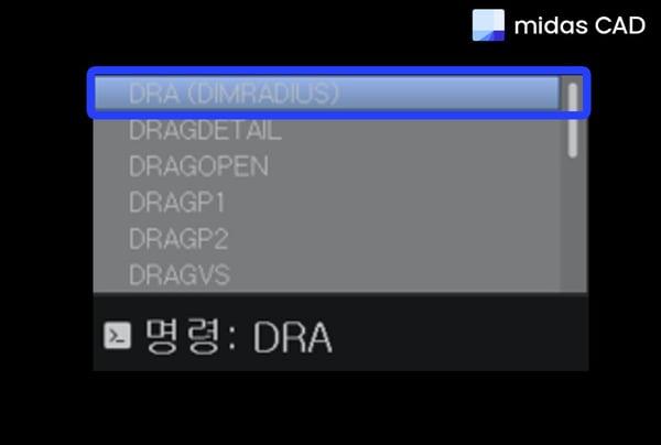 단축명령어 DRA 입력